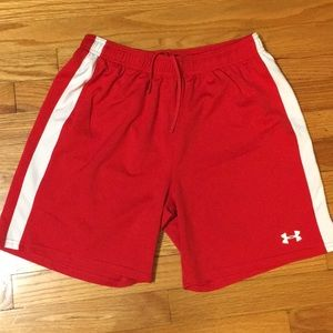 Under Armour shorts, semi fitted, heat gear